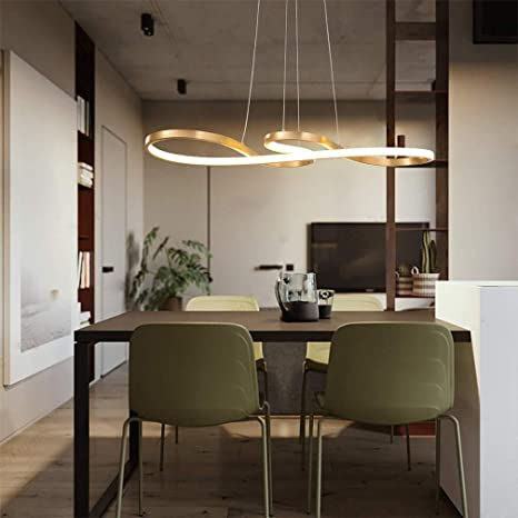 Amazon.com: Lámpara de techo LED de acrílico negro para ...