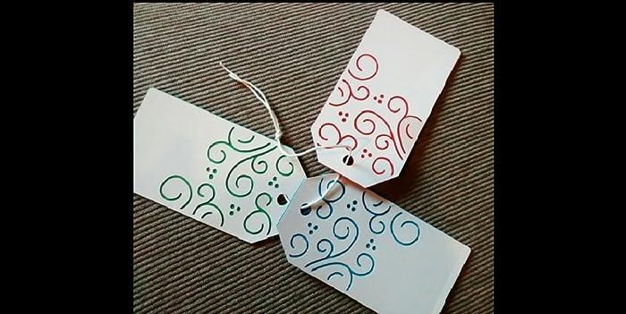 Decorazioni Natalizie Cartoncino.10 Tag Natalizie In Cartoncino Per Decorazioni Packaging E Idee