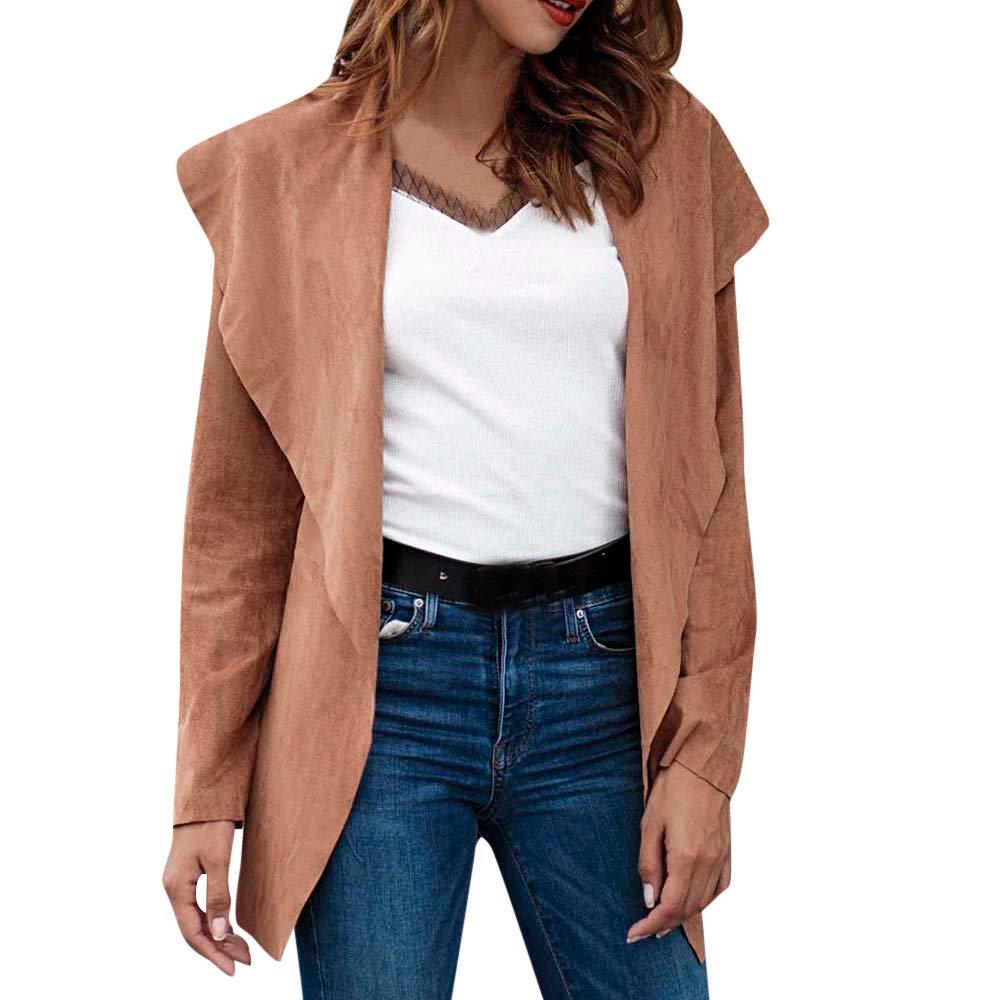 Hemlock Women Thin Cardigan Coat Trench Bomber Jacket Coat Back Tie Retro Lapel Coat Blazer Pullovers