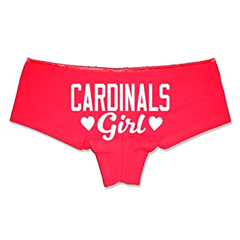 Cardinals Girl Booty Shorts Boyshort Cotton Bikini Bottom Sexy Panties