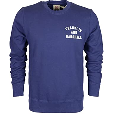 Franklin /& Marshall MF240 Cotton Round Neck Black T-Shirt