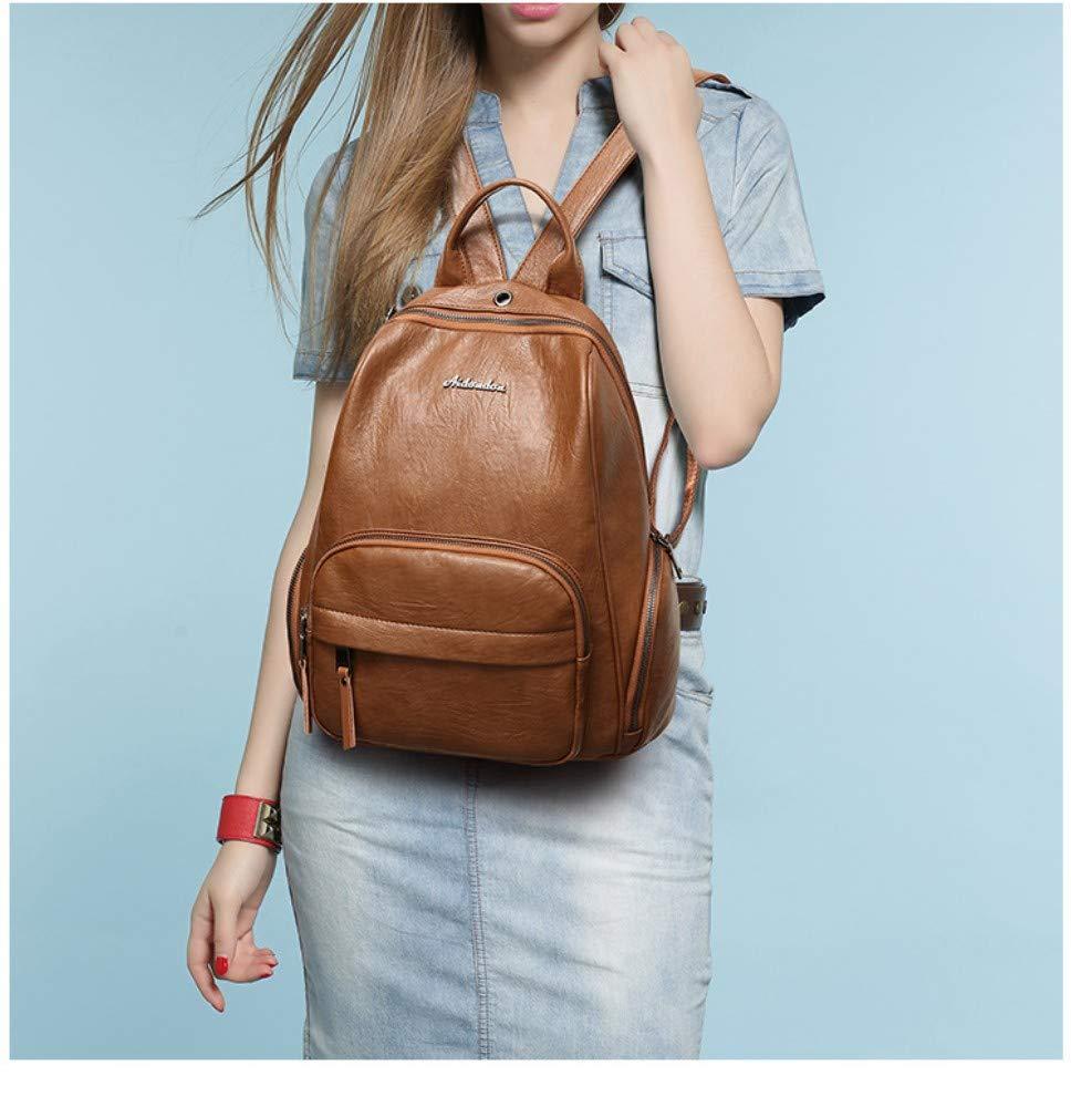 Leder Damen Rucksack Multifunktions praktische Rucksack Mode Mode Mode Reiserucksack Schaffell Handtaschen Frauen B07QHV6TJ5 Ruckscke Offizielle Webseite 08ffaa
