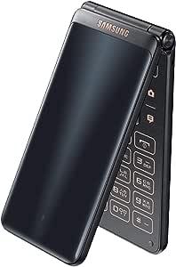 "Samsung Galaxy Folder 2 (SM-G1650) 16GB Black, 3.8"" Display, 8.0 MP, (GSM Only, No CDMA) Unlocked International Version , No Warranty"