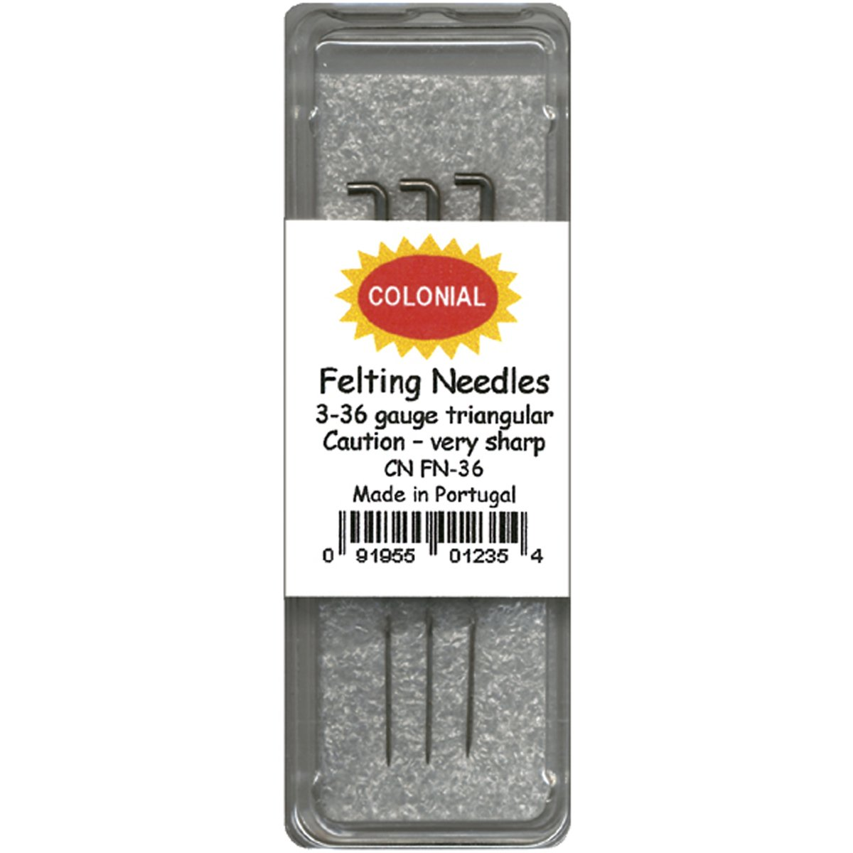 Colonial Needle CNFN36 Triangle Point Felting Needle, Size 36, 3-Pack