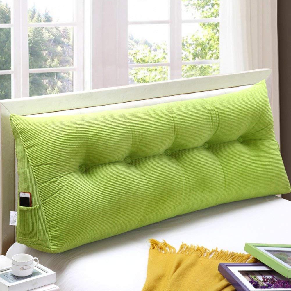 2J-QingYun Trade ベッドサイド三角ウェッジ、枕マットウエストクッションソファバッククッションウエスト (Color : 緑, サイズ : 180x50x20cm(71x20x8)) 180x50x20cm(71x20x8) 緑 B07RZK7D8K
