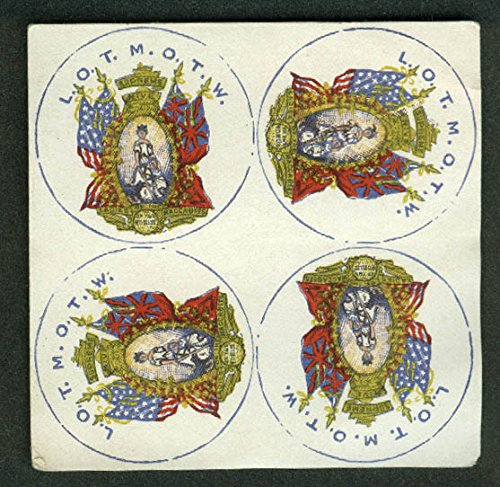 - Ladies of the Maccabees of the World emblem sheet ca 1880s