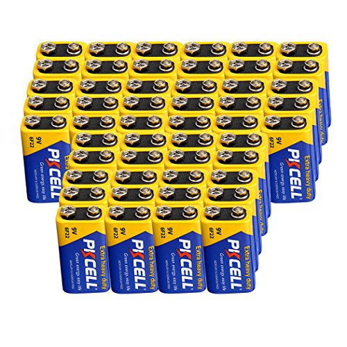 6f22 Super Heavy Duty Batteries - 9V 6F22 Mn1604 Batteries Super Heavy Duty Carbon-Zinc Battery count Pcs (50)