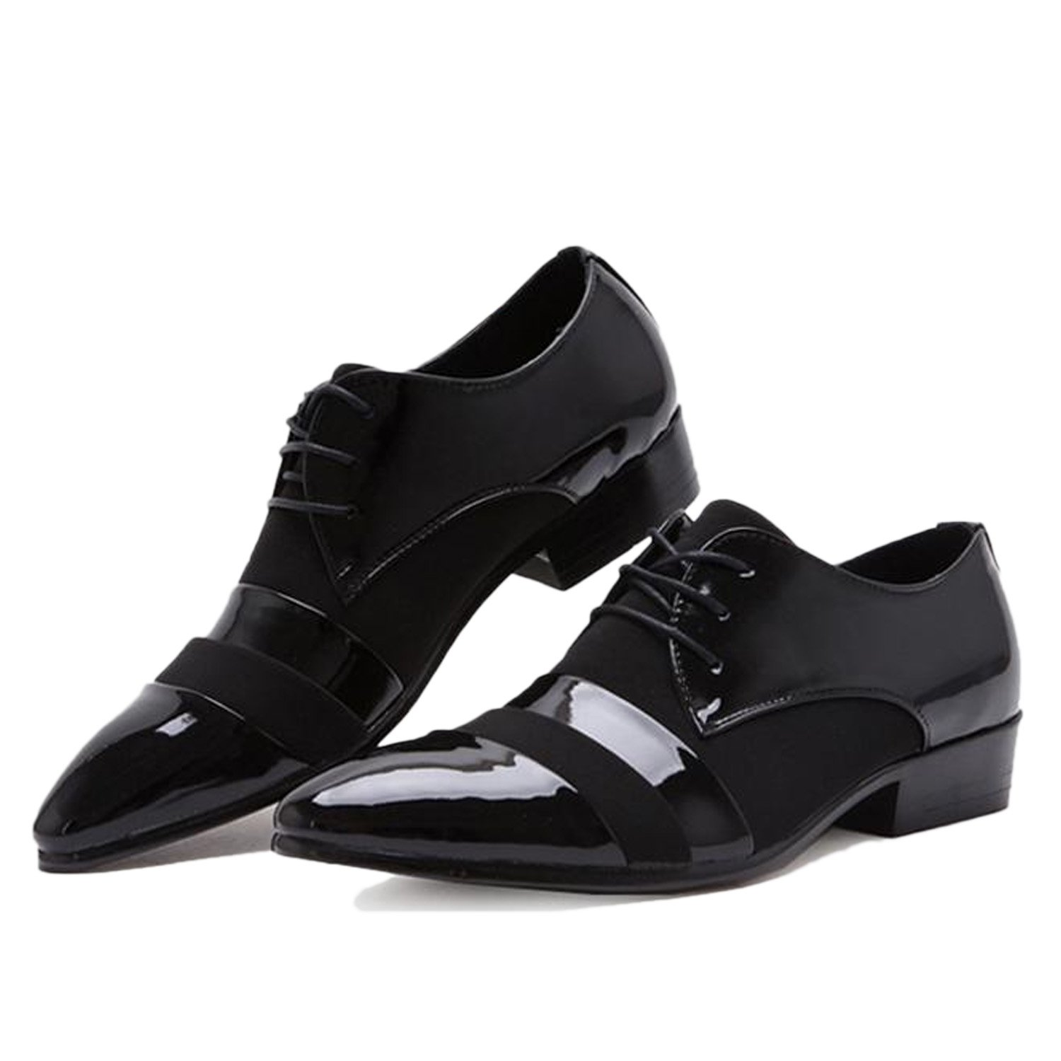Nonbrand Men's New office Black Leather Smart Formal cuban heel Shoes:  Amazon.co.uk: Shoes & Bags