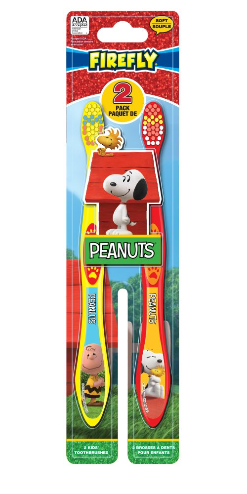 Amazon.com: Firefly Peanuts Kids Soft Toothbrushes, 2 Count (Pack of 6): Beauty