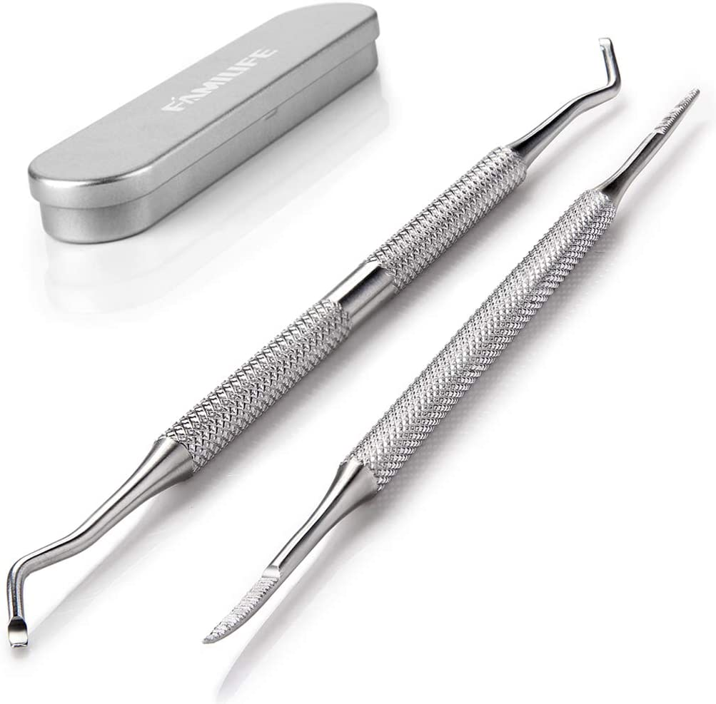 FAMILIFE L07 100% Stainless Steel Ingrown Toenail File and Lifter Double Sided with Storage Case (Ingrown Toenail File): Health & Personal Care
