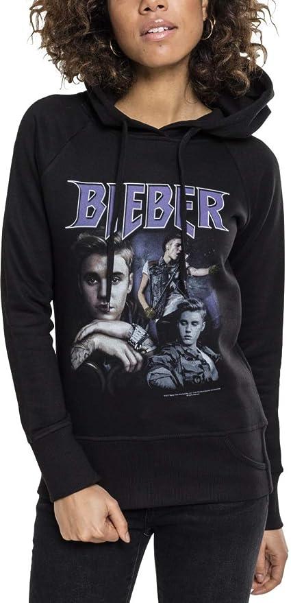 MERCHCODE Merch Código Hombre Justin Bieber 90s Sudadera con Capucha: Amazon.es: Deportes y aire libre