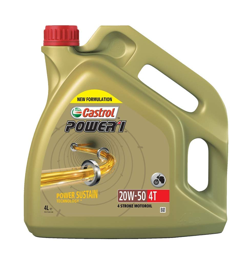 Castrol 15049B Synthetic Power 1 4T SAE 20W-50 Engine Oil, 4L