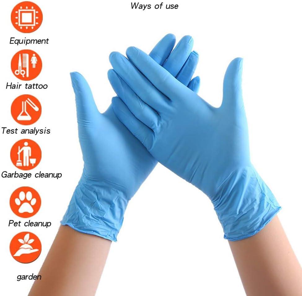 Guanti Multifunzione per La Pulizia della Casa 100 Pezzi,Blu,M Guanti in Lattice Senza Polvere ZYQDRZ Guanti Monouso in Nitrile Guanti da Lavoro Antiscivolo per Utensili da Cucina