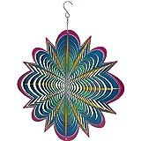 Sunnydaze 12 Inch Blue Dream 3D Whirligig Wind Spinner Hook