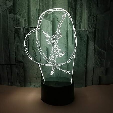 XIONGXI Lampe de Chevet Lampe de Table Lampe 3D lumière de