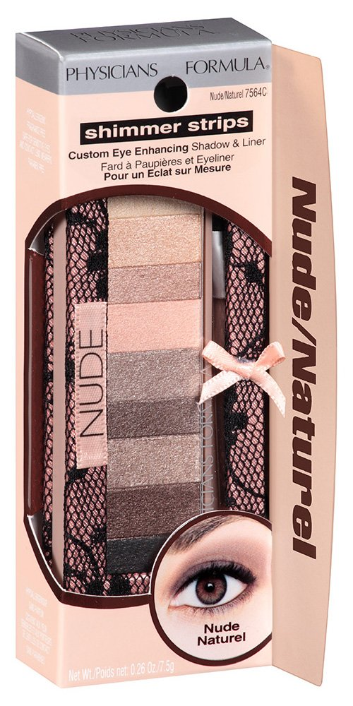 07a16e6c60 Phisicians Formula Shimmer Strips Custom Eye Enhancing Shadow And Liner Nude:  Amazon.co.uk: Beauty