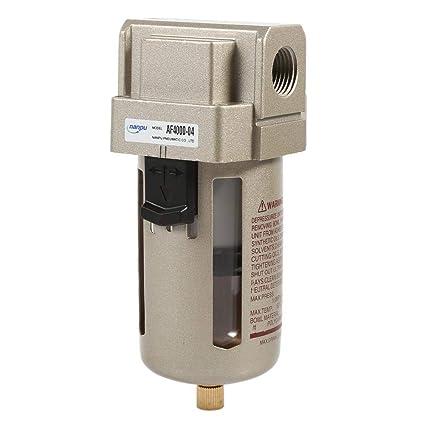 Zerodis Filtro de Aire Comprimido Regulador del Separador de Trampa de Humedad de Agua del compresor