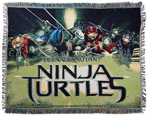 Teenage Mutant Ninja Turtles ''Movie Poster'' Woven Tapestry Throw Blanket, 48'' x 60'' by Northwest