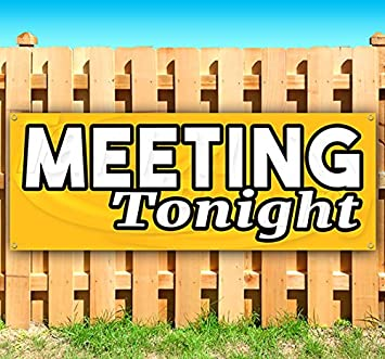Store New Meeting Room 13 oz Heavy Duty Vinyl Banner Sign with Metal Grommets Advertising Flag, Many Sizes Available