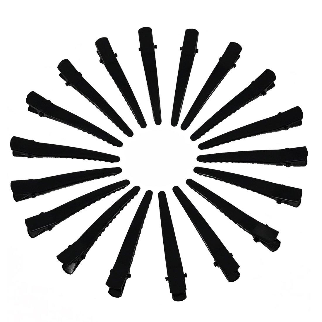 YAKA 50 Pack Black Metal Alligator Hair Clips For Girls Women, Professional Non-slip Hair Bows Pins,DIY Hair Accessories Hair Barrettes