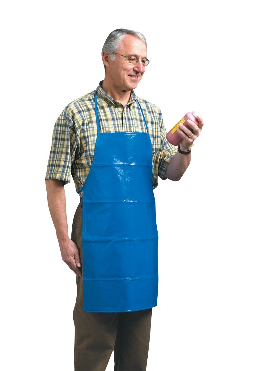 School Smart Easy to Clean Vinyl Adult Art Apron - 29 1/2 x 17 1/2 inches