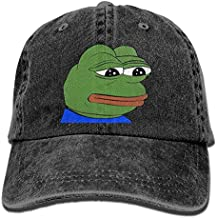 SDQQ6 Pepe The Frog Logo Adult Cowboy Hat Baseball Cap Adjustable Athletic Customized Best Hat for Men and Women