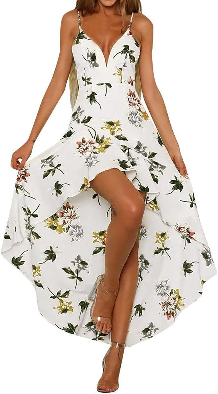 Boemia Abito Baylis Abbigliamento Femminile Vacanza Immersione Signore Estate Fiori Stampe Vestiti da Spiaggia Senza Maniche Fionda Stampa Irregolare Orlo Vestito