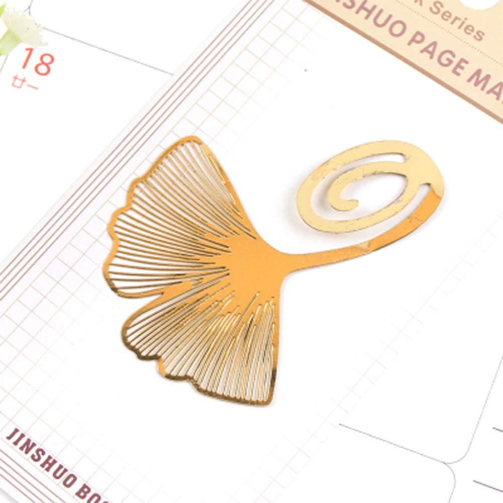 Mini se/ñal del metal clips creativo y cobre cl/ásico de accesorios libro con el embalaje de papel Suministros de la Escuela Ginkgo