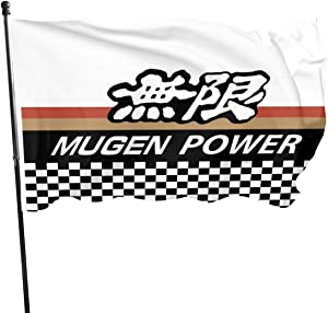 antfeagor Mugen Power Motorsports Japanese Car Parts Flag 3x5 Ft Feet Home Decoration,Garden Decoration,Outdoor Decoration,Holiday Decoration,Farm Decoration,Anniversary Decoration