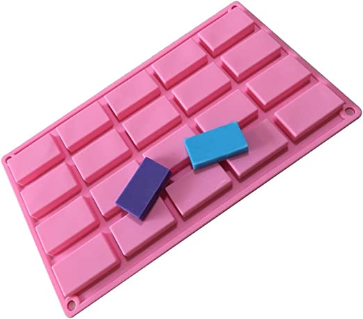 DIY 20-Cavity Sample Size Mini Candy Chocolate Bar Guest Soap Silicone Mould