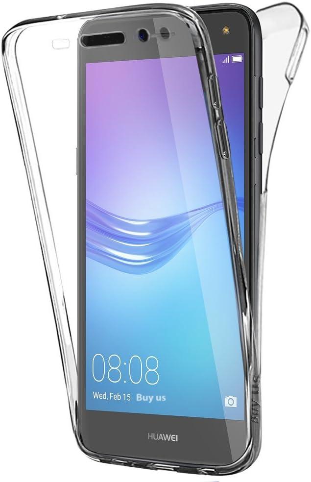 Buyus Funda Full Body Huawei Y6 2017 Transparente Silicona 360 ...