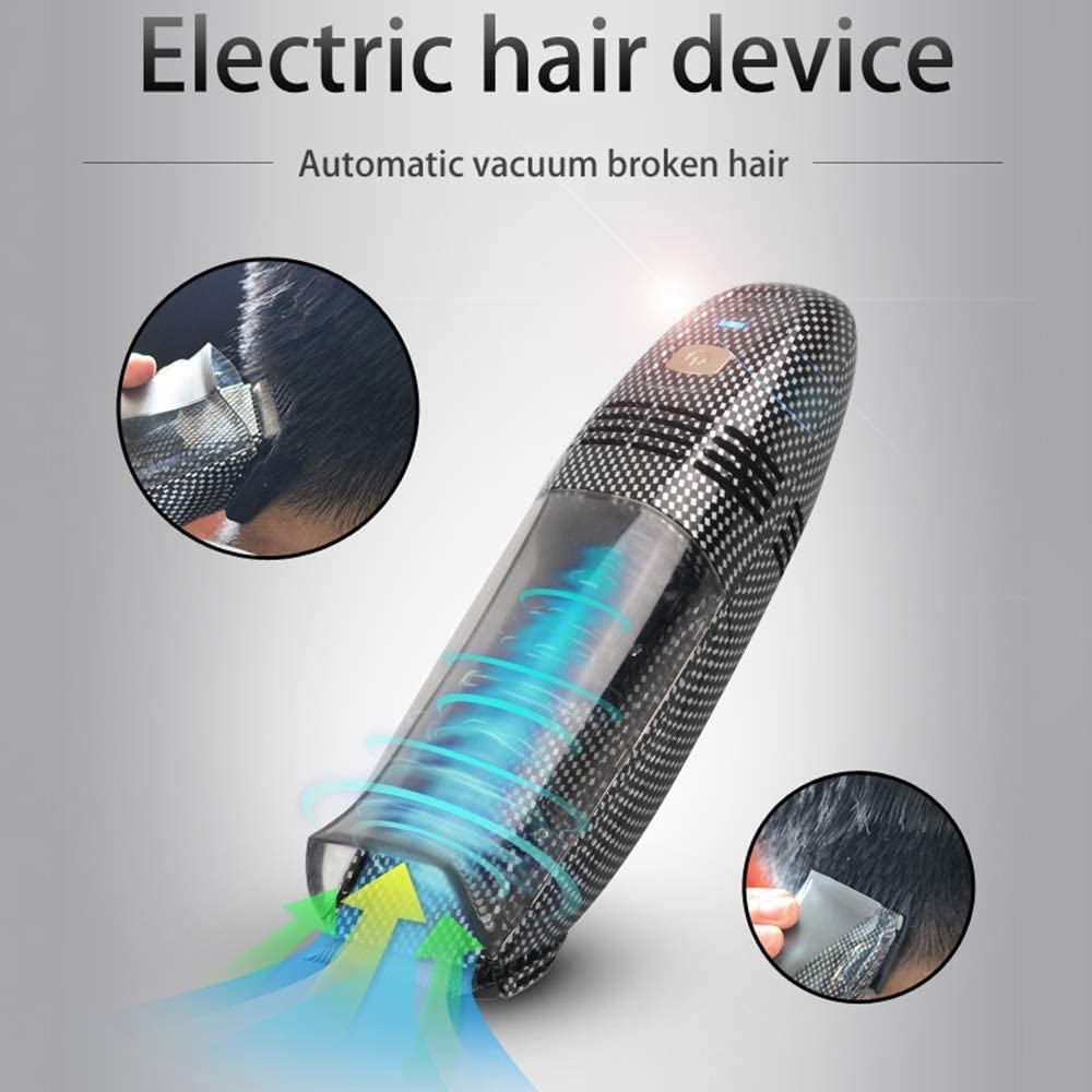 Automatic Hair Removal Hair Clipper Professional Rechargeable Cordless Vacuum Hair Trimmer