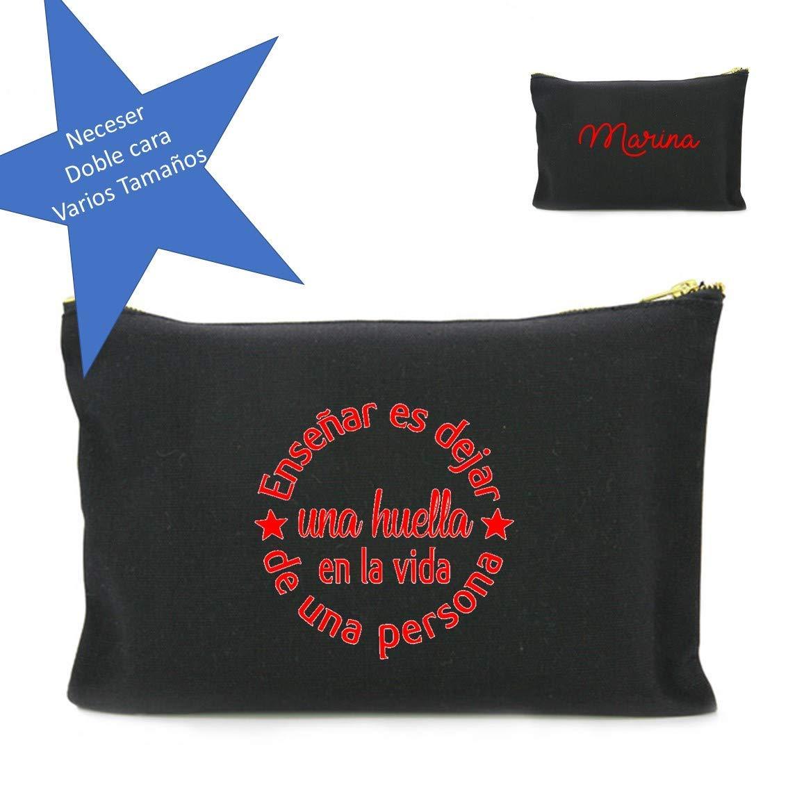 Neceser personalizado en algodón con frase para profesores. 3 ...