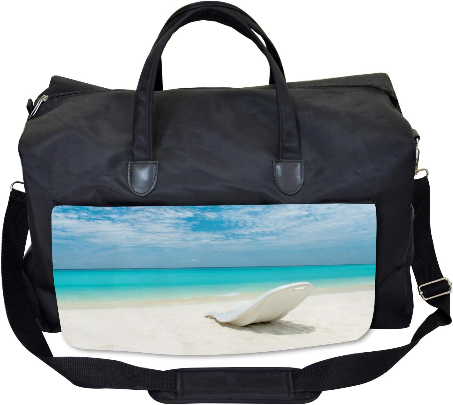 Maldives Beach Sunny Day Large Weekender Carry-on Ambesonne Travel Gym Bag