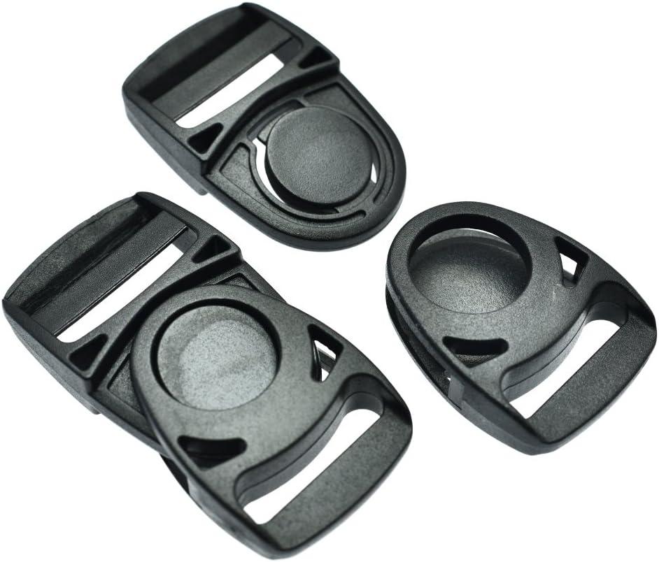 32mm Webbing Size 1-1//4 10pcs Plastic Side Release Center Buckles Swing Head Swivel style Backpack Straps