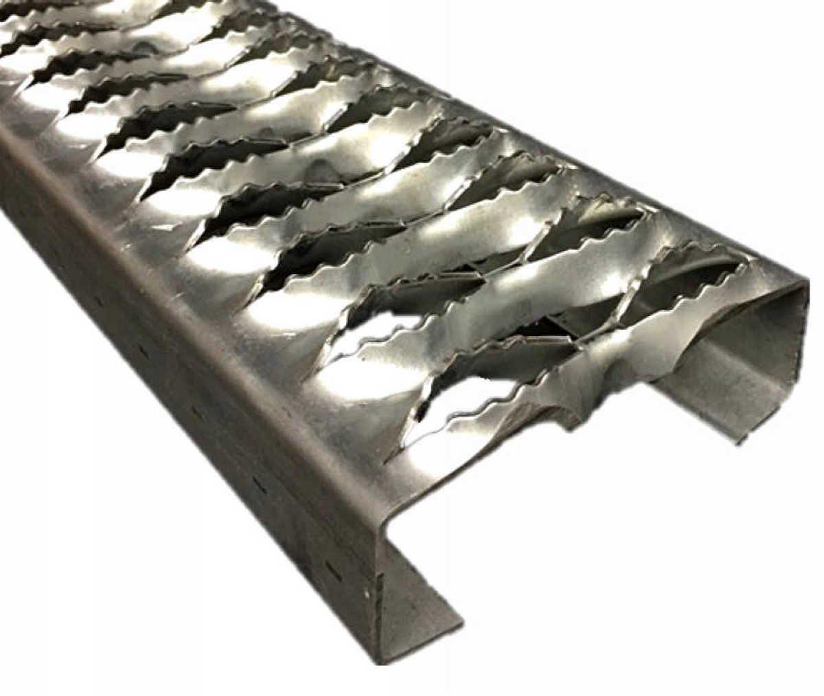 3322012-48 Grip Strut Channel Aluminum 2-Diamond Plank Safety Grating, 48'' Length x 4-3/4'' Width x 2'' Depth