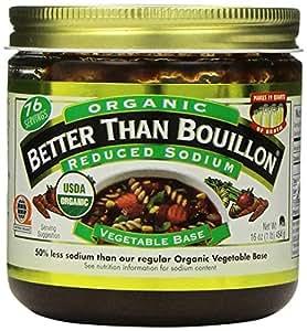 Better Than Bouillon Organic Vegetable Base 16 Oz, Reduced Sodium by Better Than Bouillon