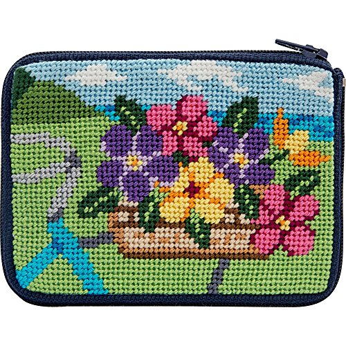 Stitch and Zip Springtime Ride Needlepoint Coin Purse Kit