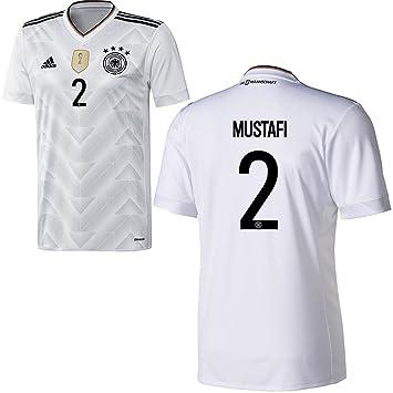 adidas DFB Alemania fútbol Camiseta Home Hombre 2017 2018 shko Dran mustafi 2 Color Blanco Negro