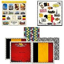 Scrapbook Customs Themed Paper and Stickers Scrapbook Kit, Belgium Sightseeing