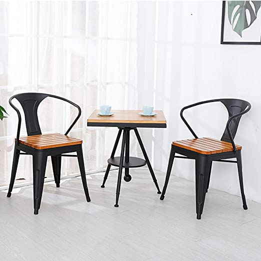 CNRGHS Mesa y sillas de Ocio de Hierro pequeña Mesa de café ...
