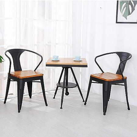CNRGHS Mesa y sillas de Ocio de Hierro pequeña Mesa de café - Adecuada para terraza de
