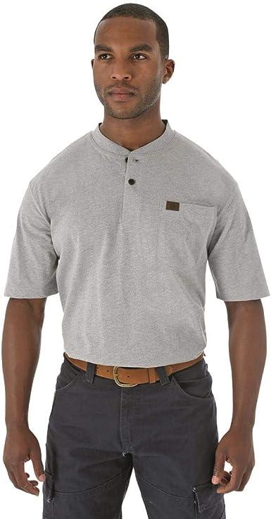 Wrangler Authentics Mens Big /& Tall Short Sleeve Henley Tee