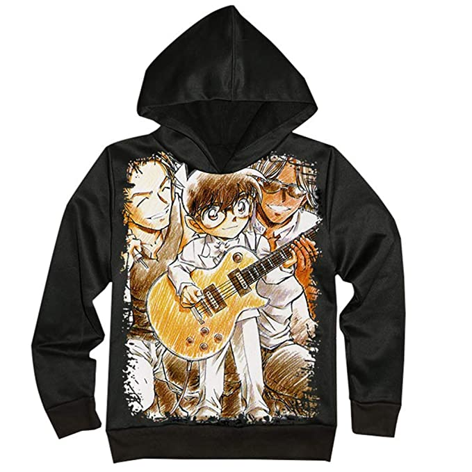 Unisex Detective Conan Sudaderas Anime Imprimir Manga Larga con Capucha Suéter Casual Chaqueta con Capucha para Hombres y Mujeres Abrigo Simple: Amazon.es: ...