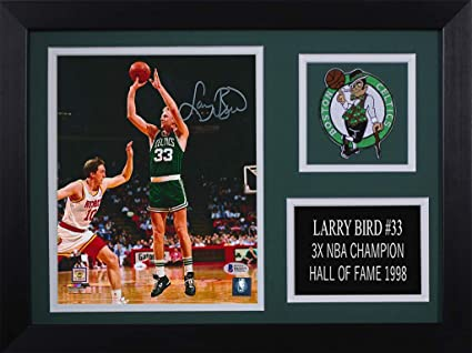 53e07f4ac64 Larry Bird Autographed Celtics Photo - Beautifully Matted and Framed - Hand  Signed By Larry Bird