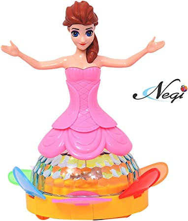 Negi Battery Operated Unique Spin Dream Princess with 4D Lights and Sound.