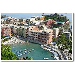 Vernazza Italy - NEW World Travel Cinque Terra Poster