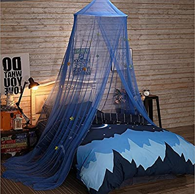 ClearUmm Blue Starry Sky Mosquito Net Ceiling Hanging Bed Canopy For Kid`s Bedroom,Bug Screen Repellent