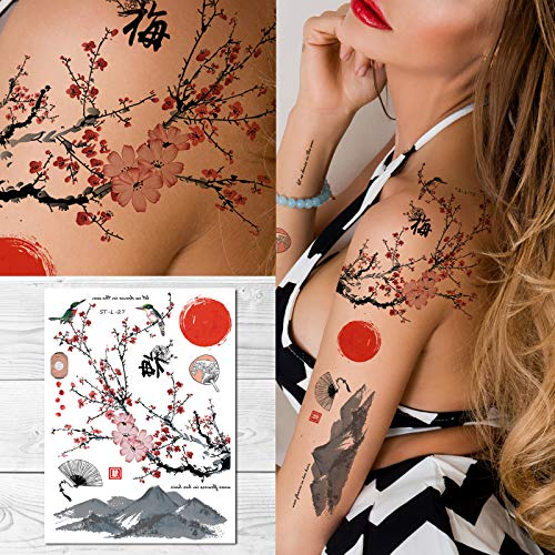 Supperb Temporary Tattoos - Plum Blossom Dance in the sun
