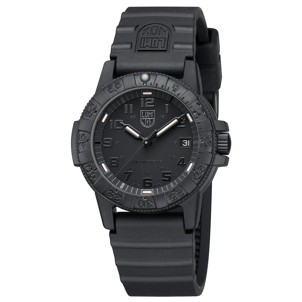 Luminox Leatherback Sea Turtle 0300 series Watch with carbon compound Case Black|Black Dial and PU Black Strap by Luminox (Image #2)